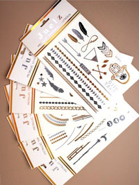 Tattoo / Metallic temporary tattoos