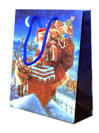 Xmas / Christmas Santa chimney gift bag.