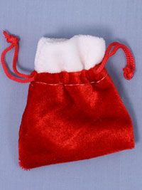 Xmas / Red Christmas santa sack gift bag.  11x9cm