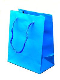 Gift Bag / Matt finish Turq gift bag Size 15x12x6cm