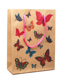 Gift bag / Butterfly gift bag  20x15x6