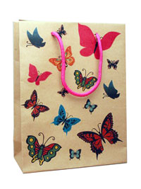 Gift bag / Butterfly gift bag  24x19x8