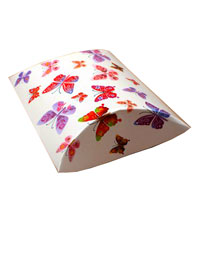 Pillow Pack / White butterfly print pillow pack.13x12.5x5cm