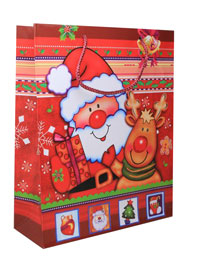 Xmas / Large Christmas Santa gift bag.