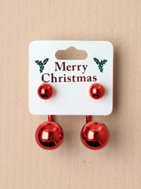 Clearance / Xmas bauble earrings
