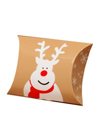 Xmas / 8.8x7x3cm Christmas reindeer print pillow pack.