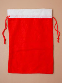 Clearance / Christmas Santa sack with drawstring 30x21cm