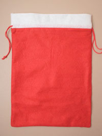 Clearance / Christmas Santa sack with drawstring 40x29