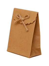 Gift Box / Natural brown gift box with velcro top.
