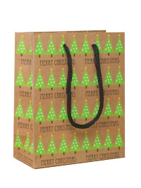 Xmas / Green Xmas tree design gift bag.