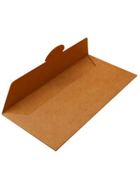 Envelope / DL Size gift voucher wallet. Brown kraft paper.
