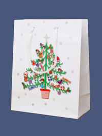 Xmas / Merry Christmas Tree design gift bag.