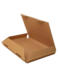 Box / Natural brown kraft fold flat box. 23x16x2cm.