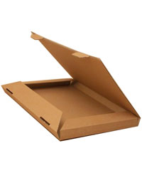 Box / Natural brown kraft fold flat box. 28x20x2cm.