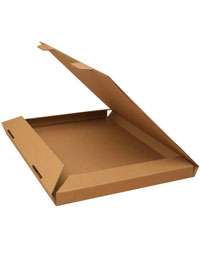 Box / Natural brown kraft fold flat box. 32.5x23x2cm.