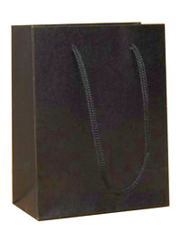 Gift Bag / 14.5x11.5x6cm. Black printed kraft paper gift bag