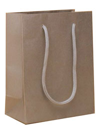 Gift Bag / 14.5x11.5x6cm.Silver printed kraft paper gift bag