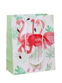 Gift Bag / Pink Flamingo print gift bag.