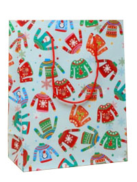 Xmas / Xmas Jumper design gift bag.