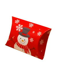 Xmas / Snowman print pillow pack box.