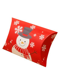 Xmas / Snowman print pillow pack gift box.