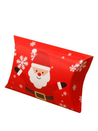 Xmas / Santa print pillow pack gift box.
