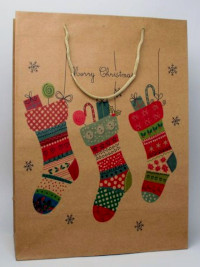 Xmas / H42xW31xD15cm. Christmas stocking gift bag.