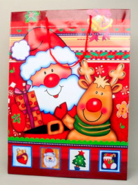 Xmas / Large Christmas Santa gift bag. 42x31x15cm.