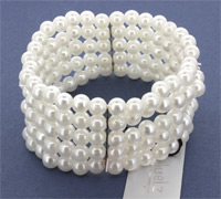 Bracelet / 5 Row pearl Corsage cuff.