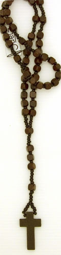 "Necklace / 36"" Rosary wooden beads"