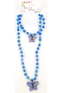 Necklace / Blet Beaded Butterfly