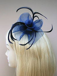 Fascinator / Eleanor - Looped net centre swirl fascinator.