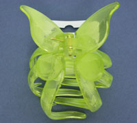 Clamp / 7cm brightly coloured plastic butterfly clamp.