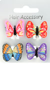 Mini Clamp / Card of 4 assorted  fimo butterfly mini clamps
