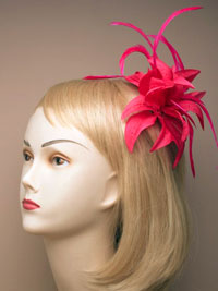 Fascinator / Jasmin - Autumn coloured flower fascinator.