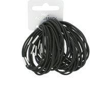 Elastic / 36pk Thin 2mm black elastics with ferrule.
