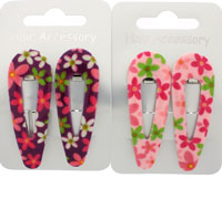 Clearance / 5.5cm Flower printed plastic covered sleepies.