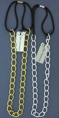 Clearance / Metal chain elastic bandeaux.