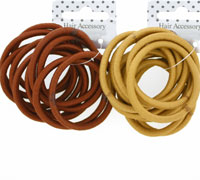 Elastics / Card of 10 Natural browns endless elastics.