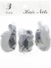 Hair Nets / Pack of 3 Hair nets in Black