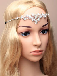 Brow band / Centre crystal flower diamante detail browband.