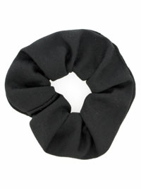Scrunchies / Black jersey fabric scrunchie.