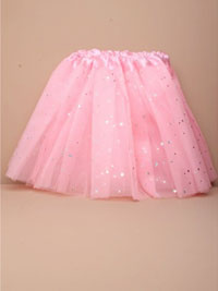 "Tutu / Pink net child size Tutu with stars. 15-28"" Waistb"