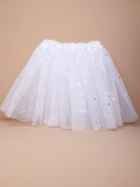 "Tutu / White net child size Tutu with stars. 15-28"" Waist"