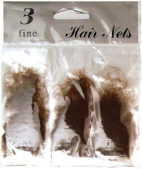 Hair nets / pack of 3 hair nets in Brown.