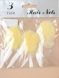 Hair nets / Pack of 3 hair nets in Blonde.