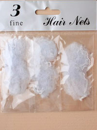 Hair nets / Pack of 3 hair nets in Silver grey.