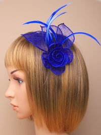 Fascinator / Fifi - Mesh net flower fascinator.