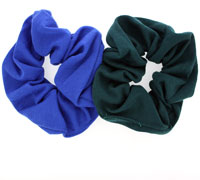 Scrunchies / School coloured jersey fabric scrunchie.