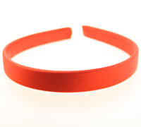 Aliceband / 14mm wide Red satin fabric aliceband.
